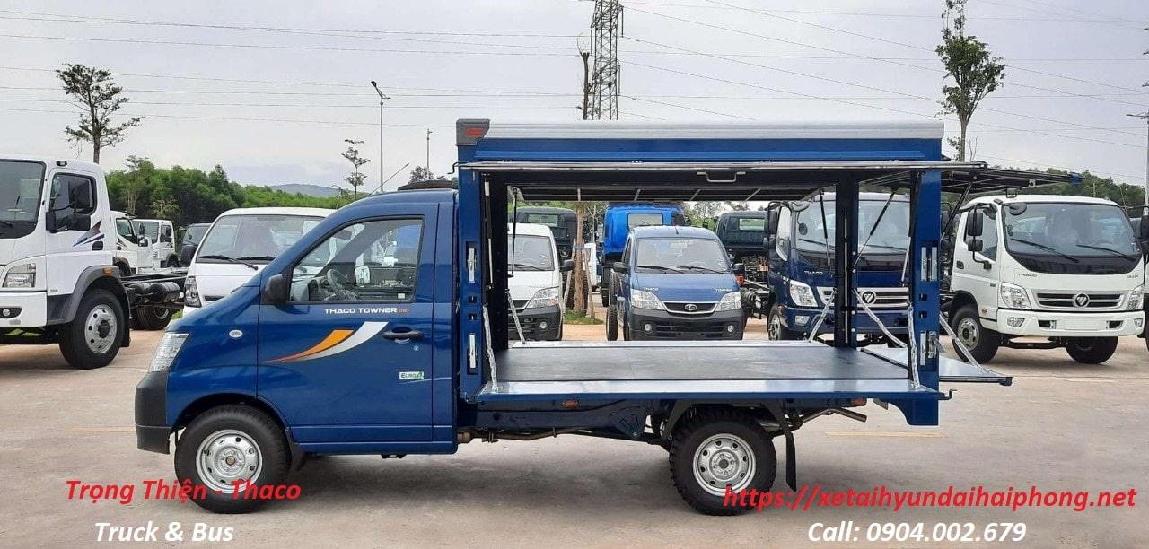 Xe tải Thaco bán hàng lưu động Towner 990 Hải Phòng