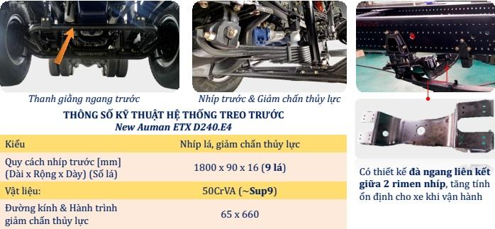 Hệ thống treo trước xe ben Thaco Auman D240