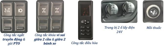 nút điều chỉnh xe ben Thaco Auman D240