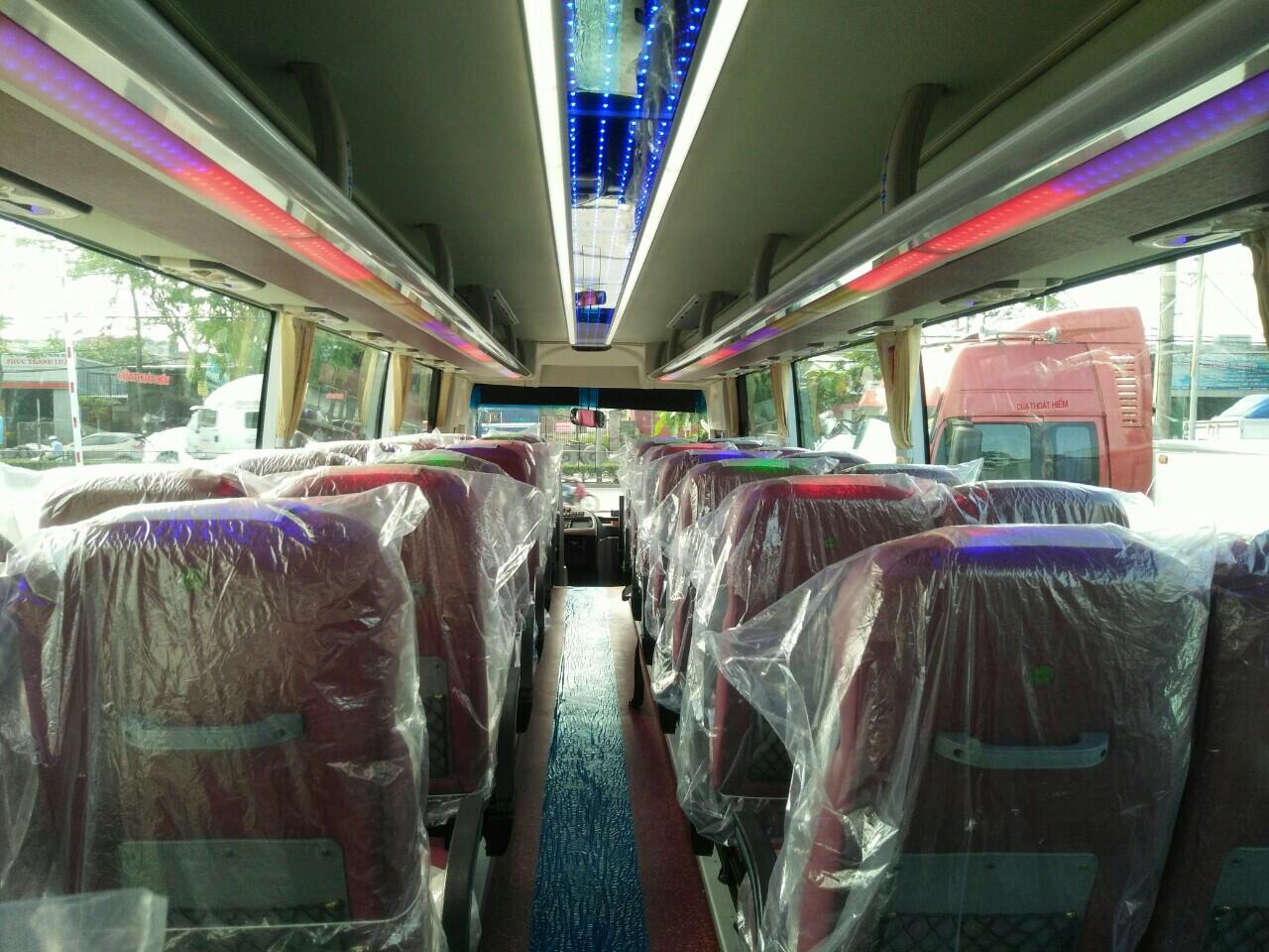 nội thất xe khách 47 chỗ thaco tại hải phòng